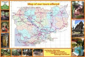 Map_cambodia plan et carte du Cambodge